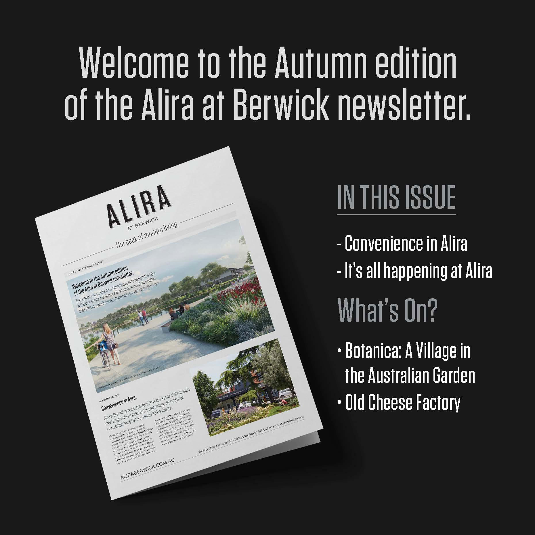 Autumn Newsletter.
