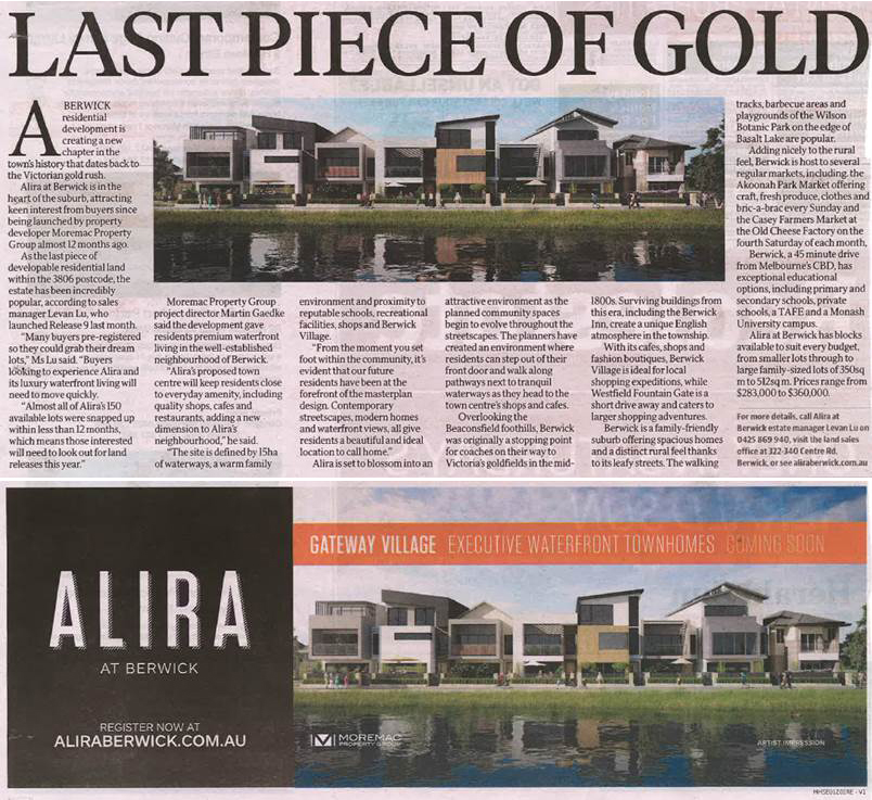 Herald Sun - Alira Last Piece of Gold
