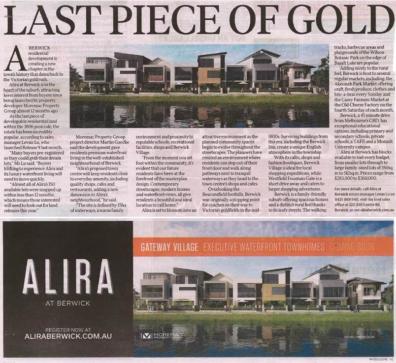 Herald Sun - Alira Last Piece of Gold